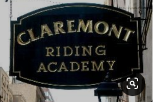 """<img src= """"sign.jpg"""" alt= """"black sign with gold letters reading Claremont riding academy"""">"""